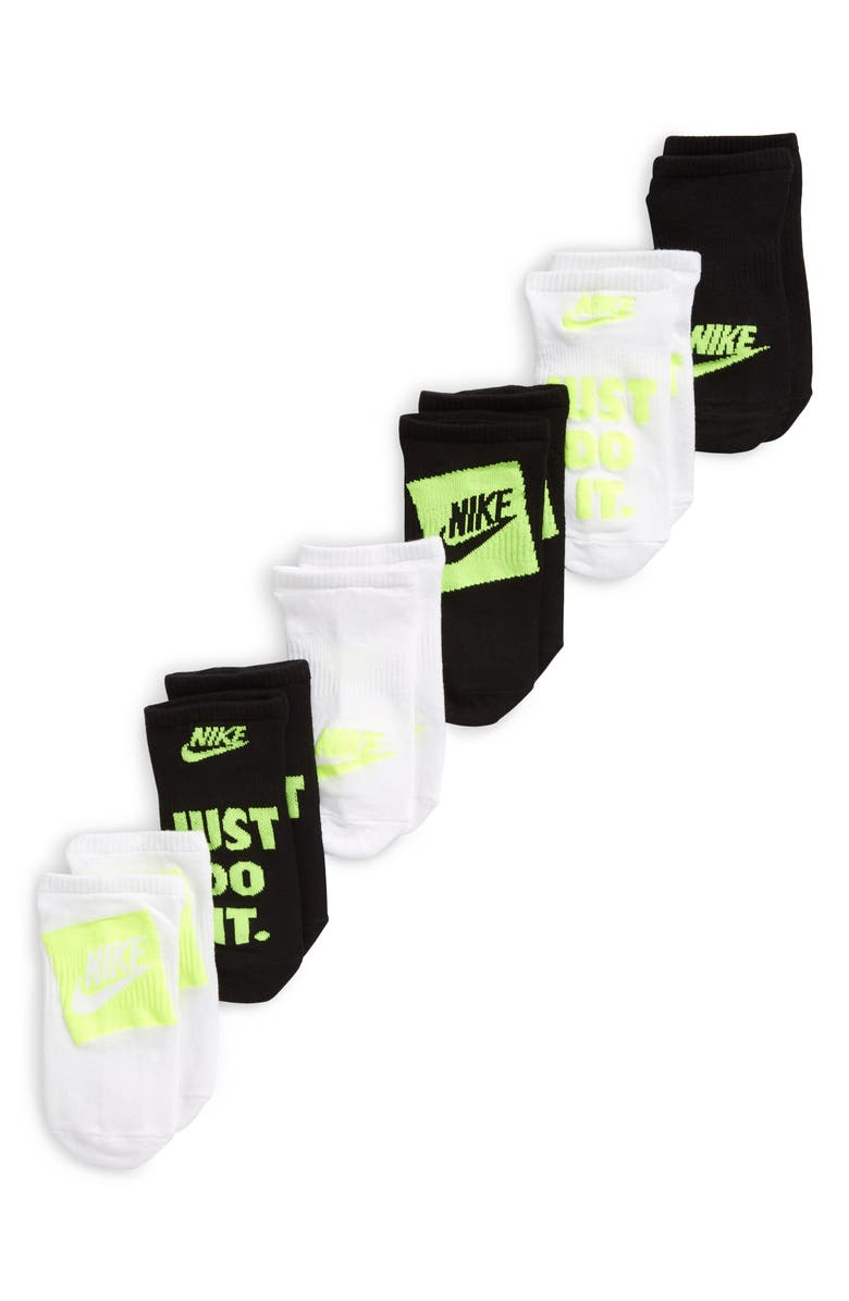 NIKE Kids' Assorted 6-Pack Everyday Lightweight No-Show Socks, Main, color, MULTI-COLOR
