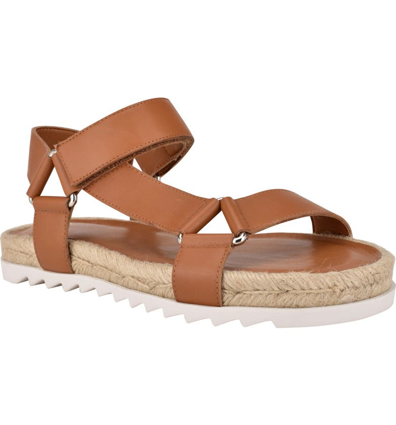 MARC FISHER LTD Jecca Strappy Sandal, Main, color, NEW LUGGAGE LEATHER