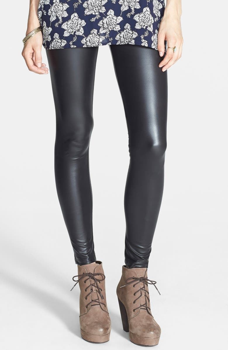 MIMI CHICA Faux Leather Leggings, Main, color, 001