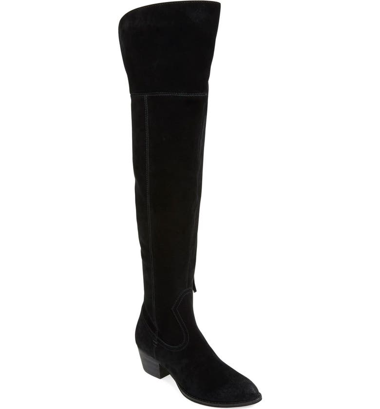 DOLCE VITA 'Silas' Over the Knee Boot, Main, color, BLACK SUEDE
