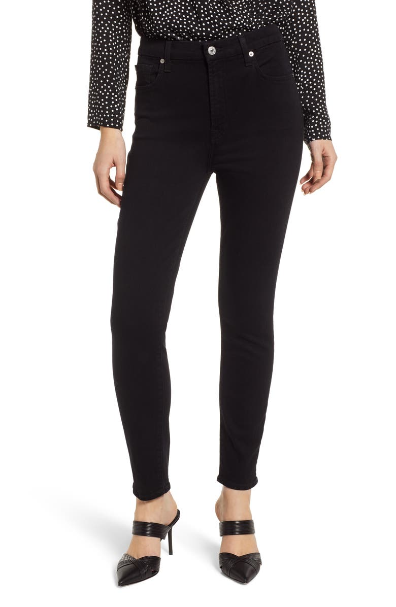 7 FOR ALL MANKIND<SUP>®</SUP> Aubrey Super High Waist Ankle Skinny Jeans, Main, color, 004