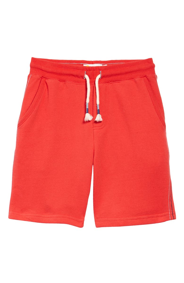 MINI BODEN Boden Kids' Essential Knit Shorts, Main, color, STRAWBERRY TART RED