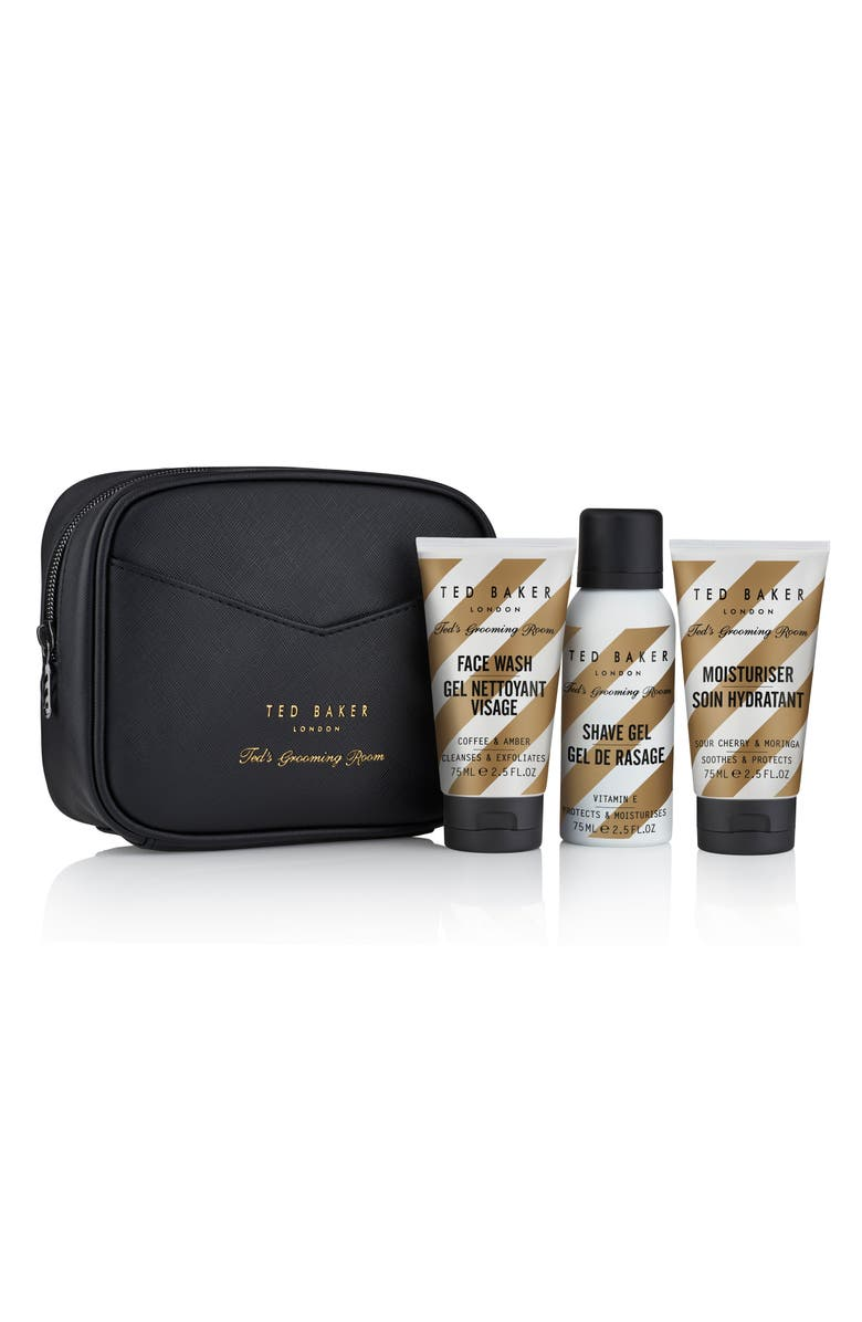 TED BAKER LONDON Ted's Grooming Room Travel Trio, Main, color, 000