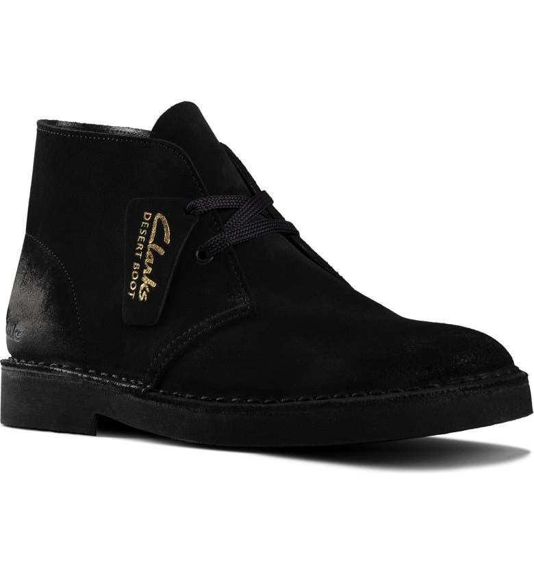 CLARKS<SUP>®</SUP> Desert Boot, Main, color, BLACK SUEDE