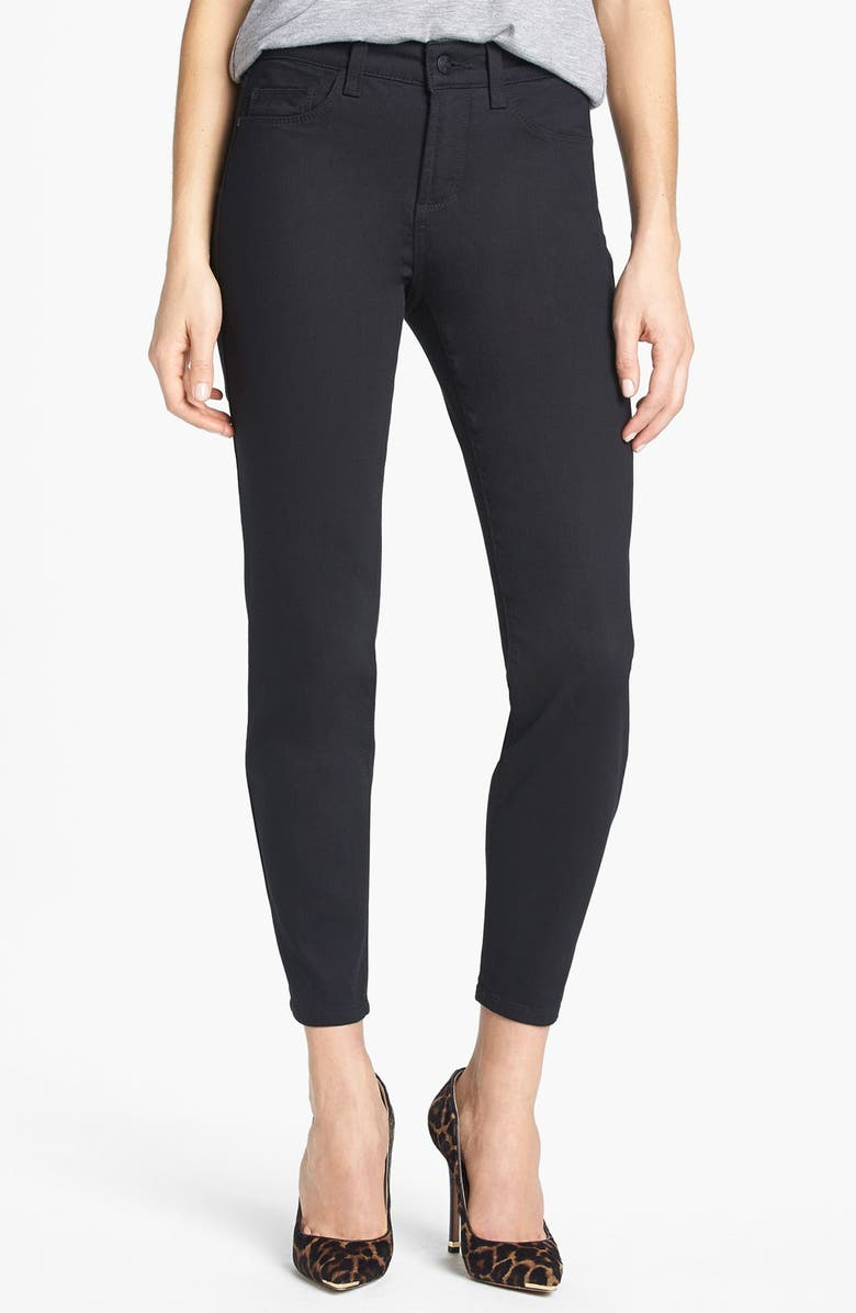 NYDJ 'Clarissa' Fitted Stretch Ankle Skinny Jeans, Main, color, Black