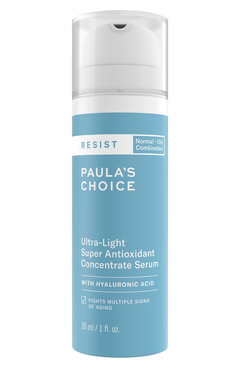 PAULA'S CHOICE Resist Ultra-Light Antioxidant Concentrate Serum with Hyaluronic Acid, Main, color, No Color