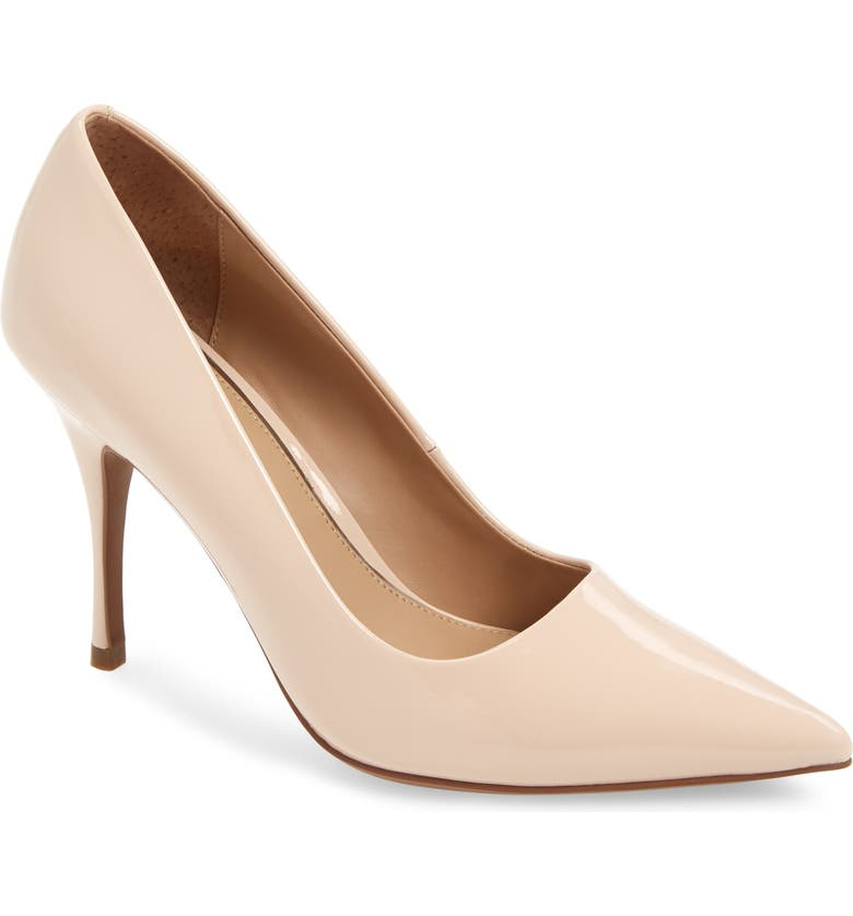 LINEA PAOLO Payton Pointy Toe Pump, Main, color, BEIGE LEATHER