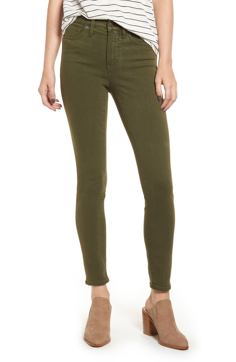 MADEWELL High Waist Skinny Jeans, Main, color, 300