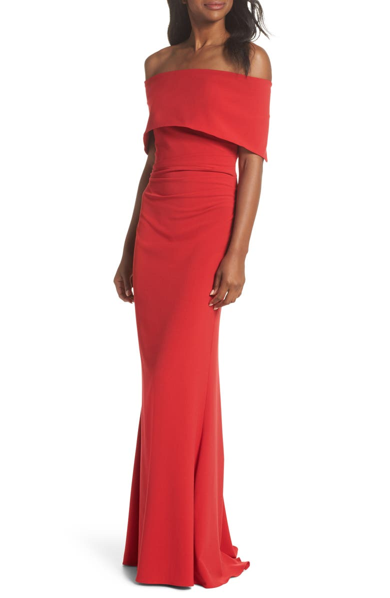 VINCE CAMUTO Popover Gown, Main, color, RED