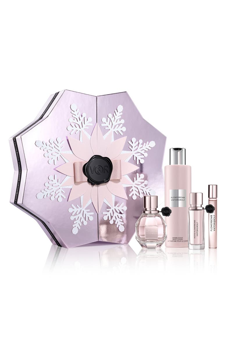 VIKTOR&ROLF Flowerbomb Eau de Parfum Four-Piece Set, Main, color, 000