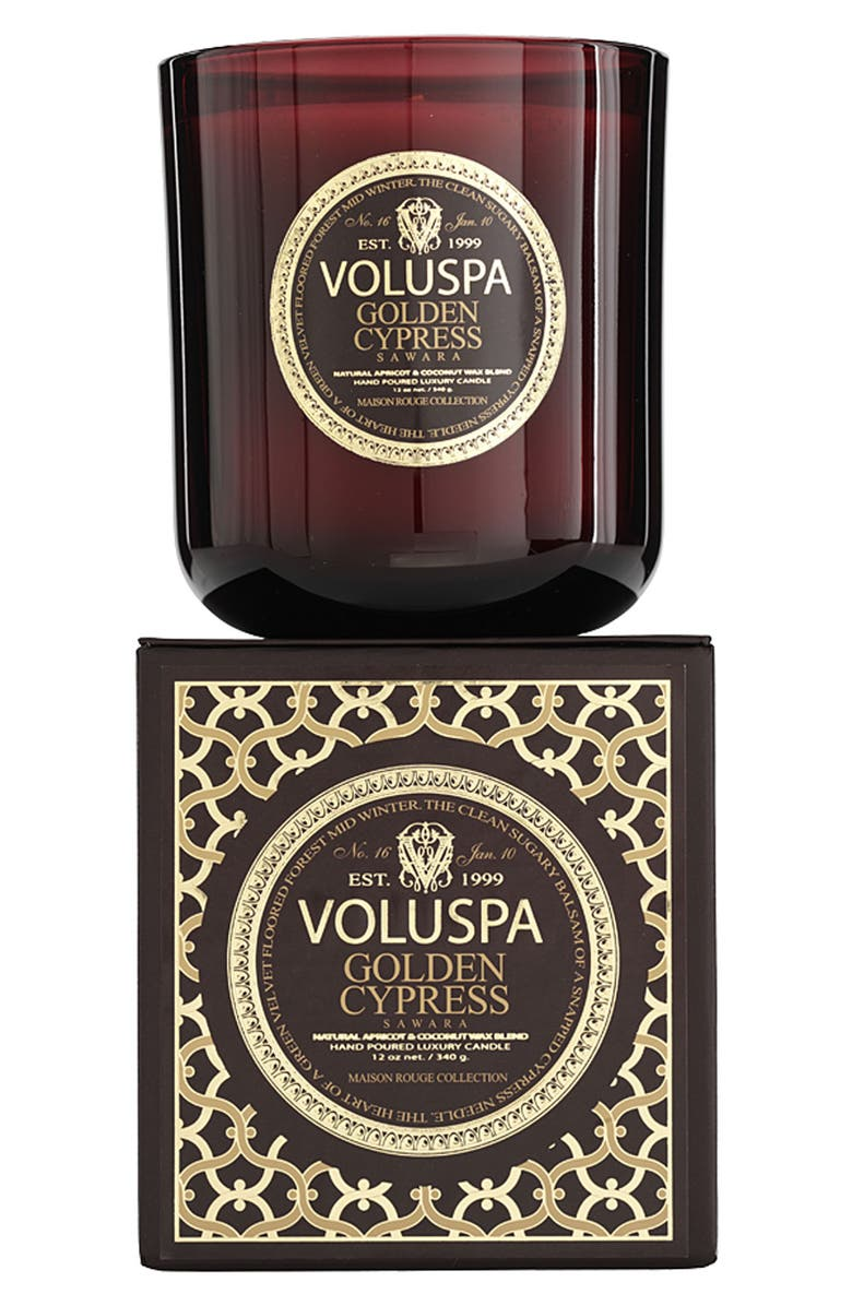VOLUSPA 'Maison Rouge - Golden Cypress Sawara' Scented Candle, Main, color, 000