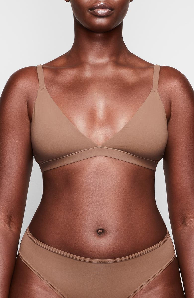 SKIMS Fits Everybody Triangle Bralette, Main, color, OXIDE