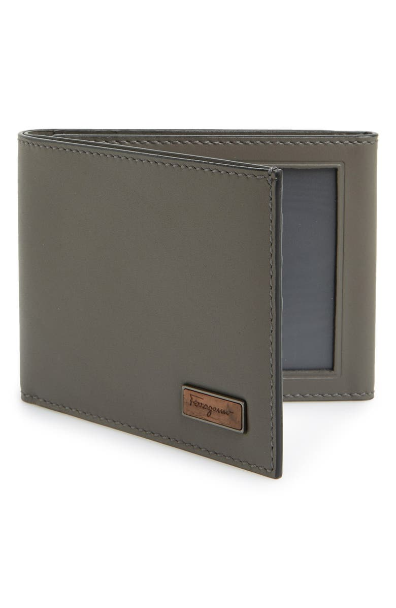 SALVATORE FERRAGAMO 'Renaissance' Trifold Leather Wallet, Main, color, 020