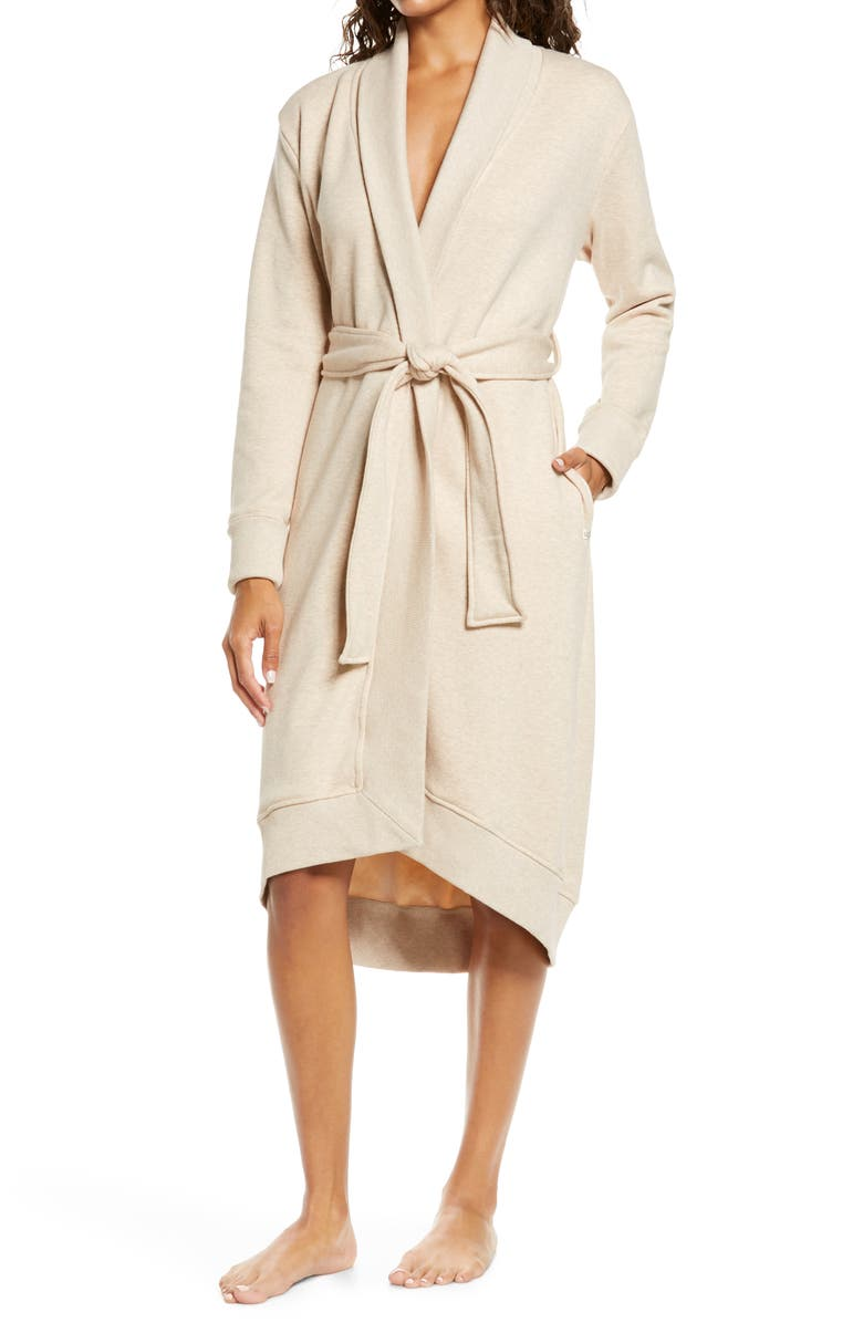 UGG<SUP>®</SUP> Karoline Fleece Robe, Main, color, OATMEAL HEATHER