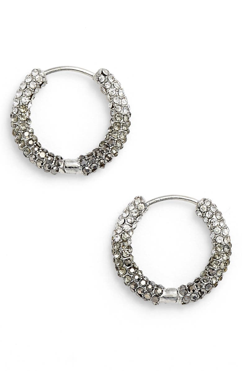JENNY PACKHAM Pavé Crystal Hoop Earrings, Main, color, 040