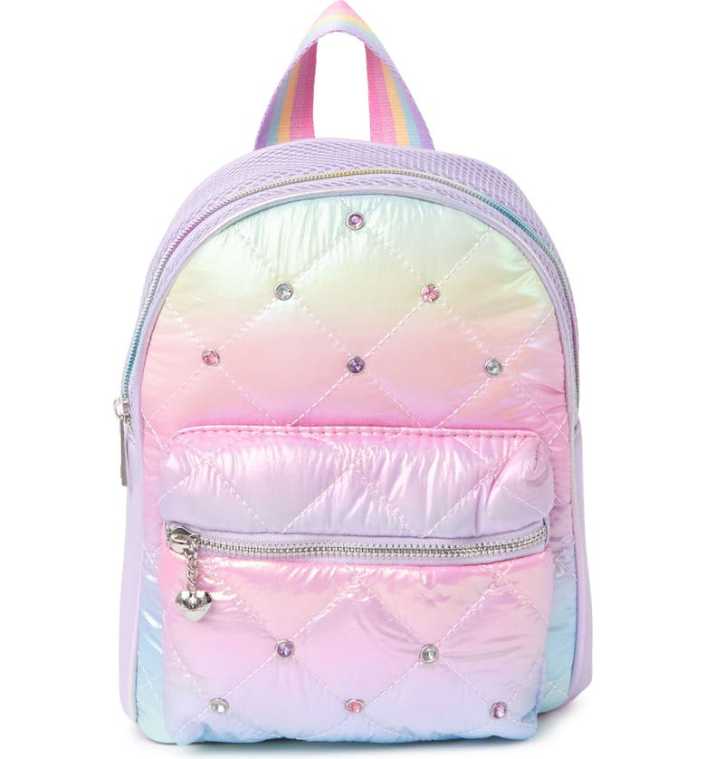 OMG Ombre Quilted Puff Mini Backpack, Main, color, LAVENDER