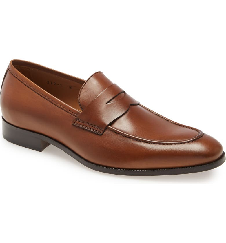 TO BOOT NEW YORK Tesoro Penny Loafer, Main, color, BRANDY ANT