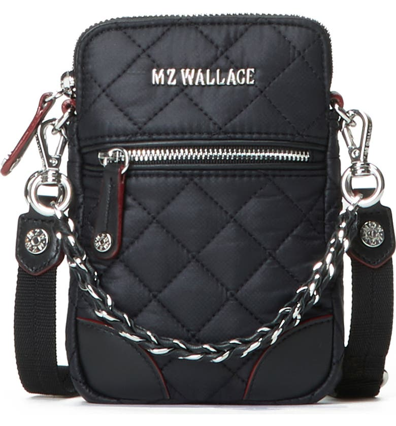 MZ WALLACE Micro Crosby Crossbody Bag, Main, color, BLACK/ BLACK