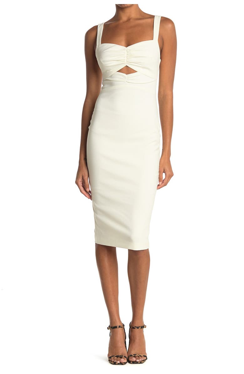 LIKELY Terry Sweetheart Cutout Sheath Dress, Main, color, WHITE