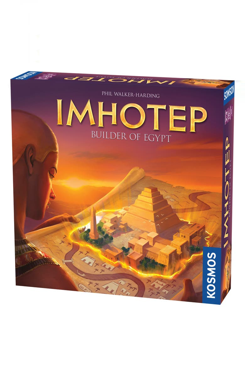THAMES & KOSMOS Imhotep - Builder of Egypt Board Game, Main, color, 800