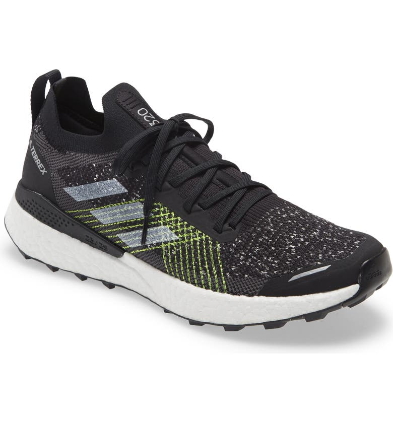 ADIDAS Terrex Two Ultra Parley Trail Running Shoe, Main, color, BLACK/WHITE/YELLOW