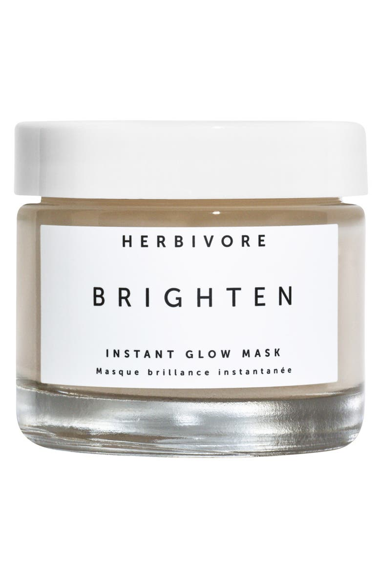 HERBIVORE BOTANICALS Brighten Pineapple Enzyme + Gemstone Instant Glow Mask, Main, color, NO COLOR