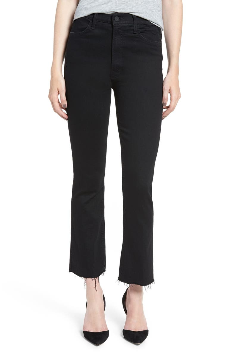 MOTHER The Hustler High Waist Ankle Fray Jeans, Main, color, NOT GUILTY