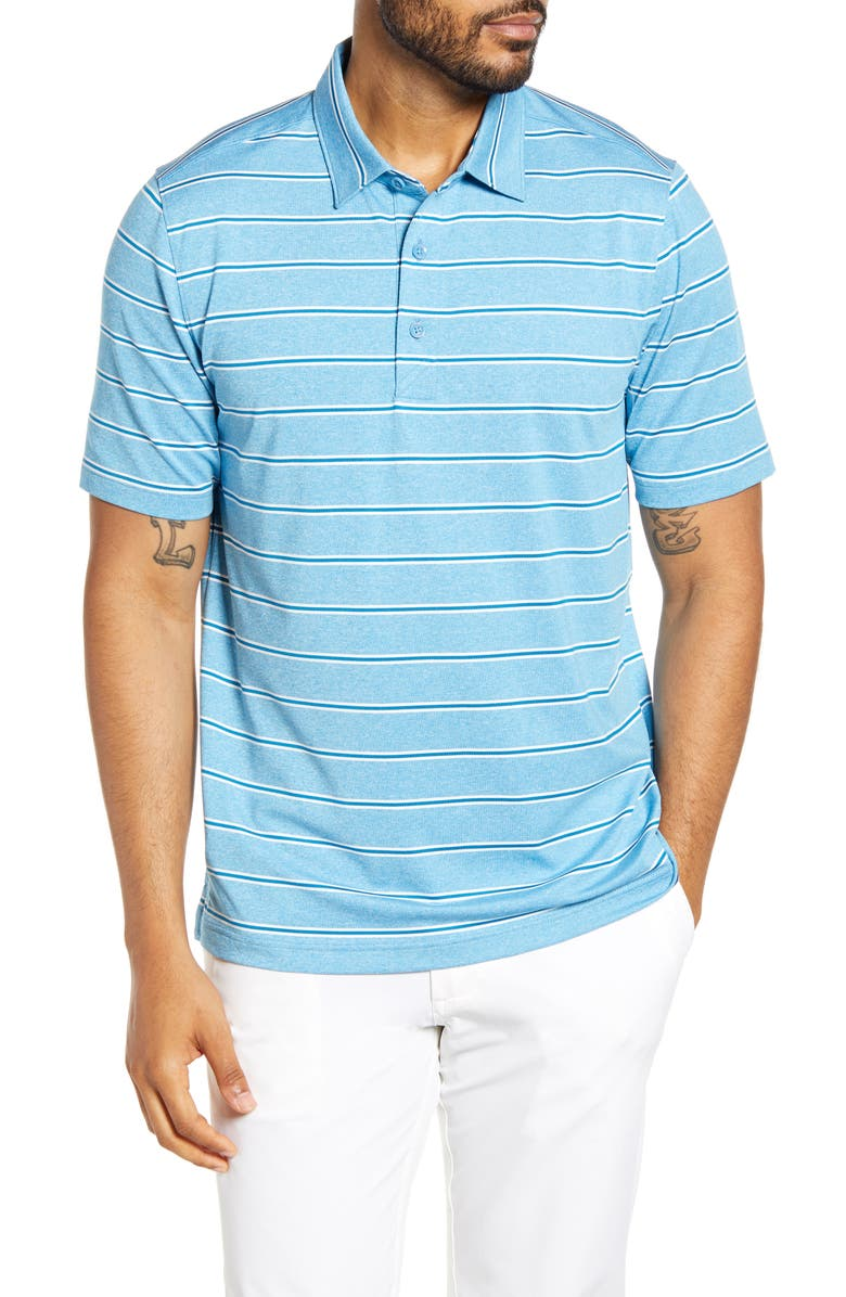 CUTTER & BUCK Forge DryTec Stripe Performance Polo, Main, color, CHAMBERS