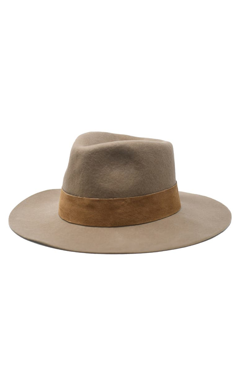 NOAKE High Crown Wool Fedora, Main, color, 230