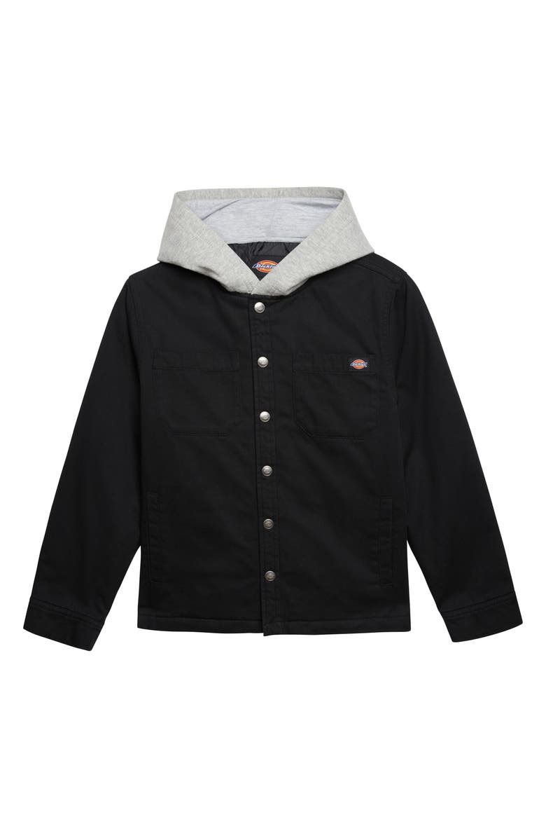 DICKIES Hooded Twill Jacket, Main, color, 001