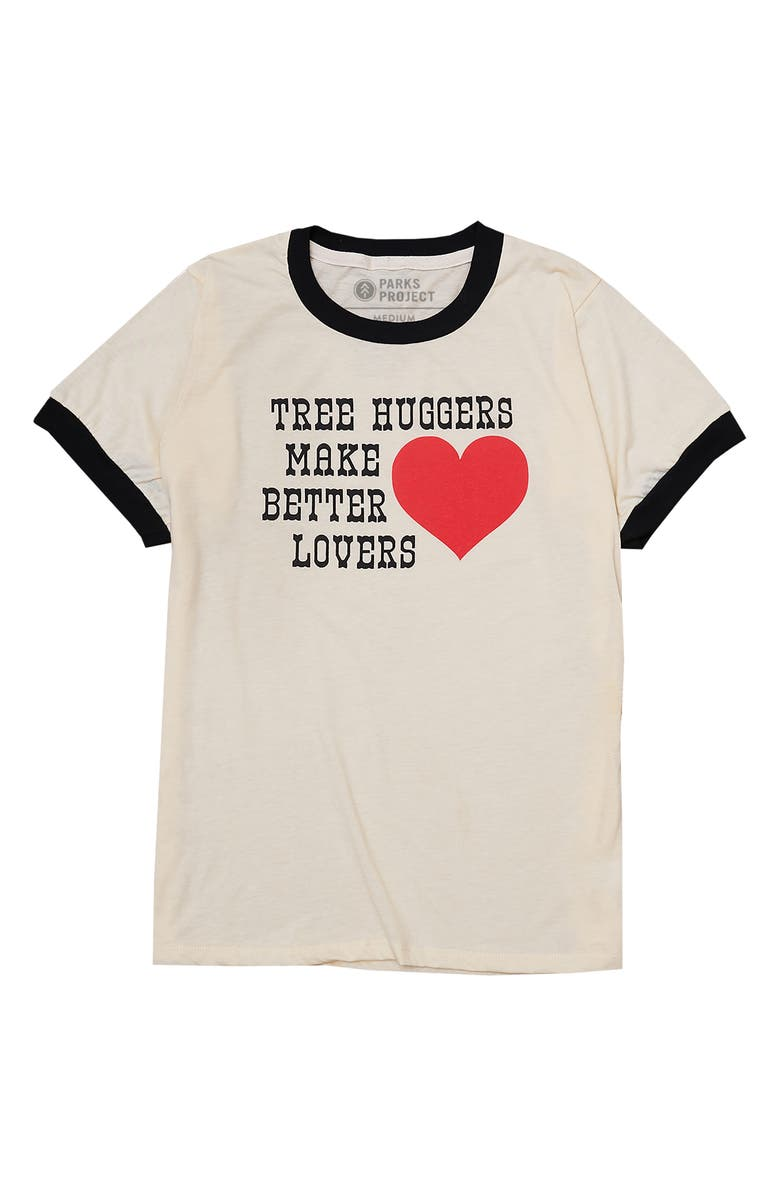 PARKS PROJECT Men's Tree Huggers Graphic Tee, Main, color, NATURAL