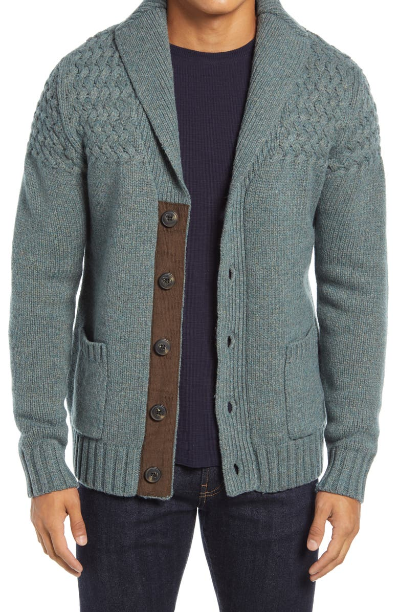 SCHOTT NYC Wool Blend Cardigan Sweater, Main, color, 315