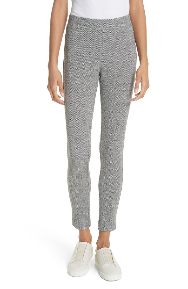 THEORY Adbelle K Chevron Stretch Pants, Main, color, 008