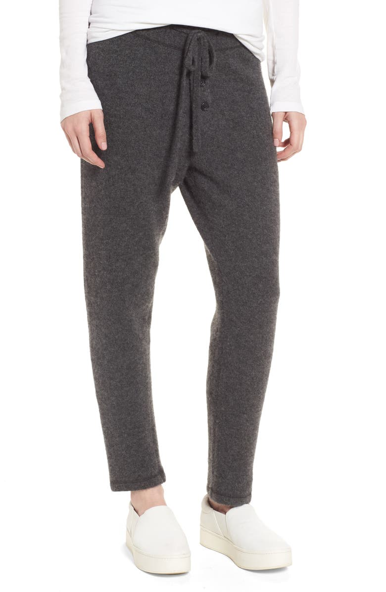 JAMES PERSE Brushed Cashmere Sweatpants, Main, color, CHARCOAL