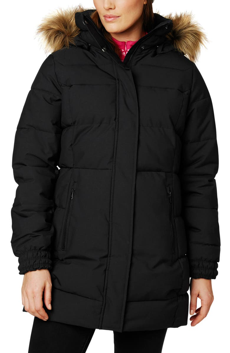 HELLY HANSEN Blume Waterproof Parka with Faux Fur Trim, Main, color, 002