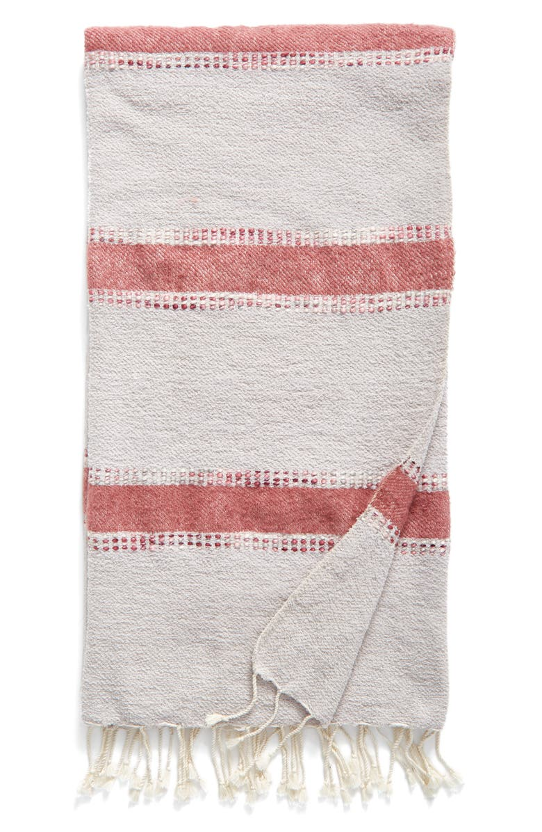 NORDSTROM at Home Brushed Stripe Throw, Main, color, 020