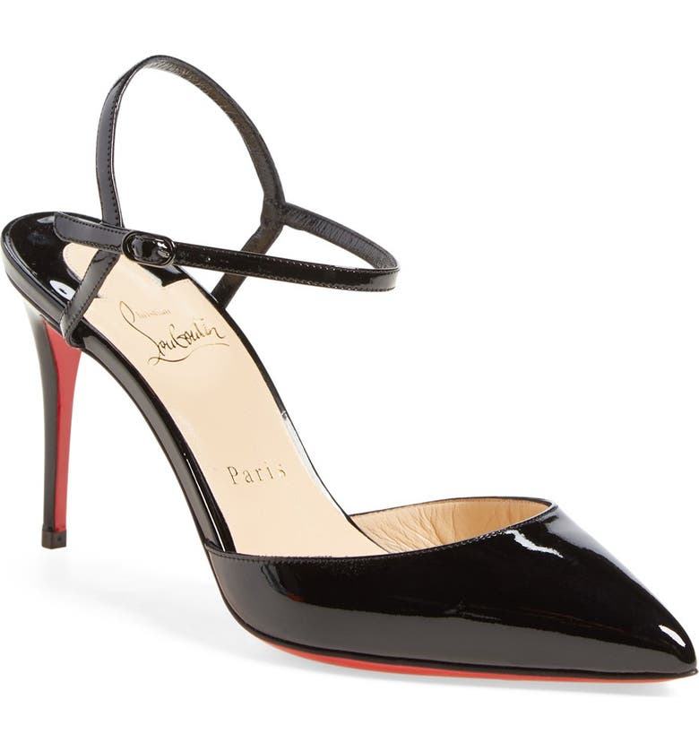 CHRISTIAN LOUBOUTIN 'Rivierina' Ankle Strap Pump, Main, color, 001