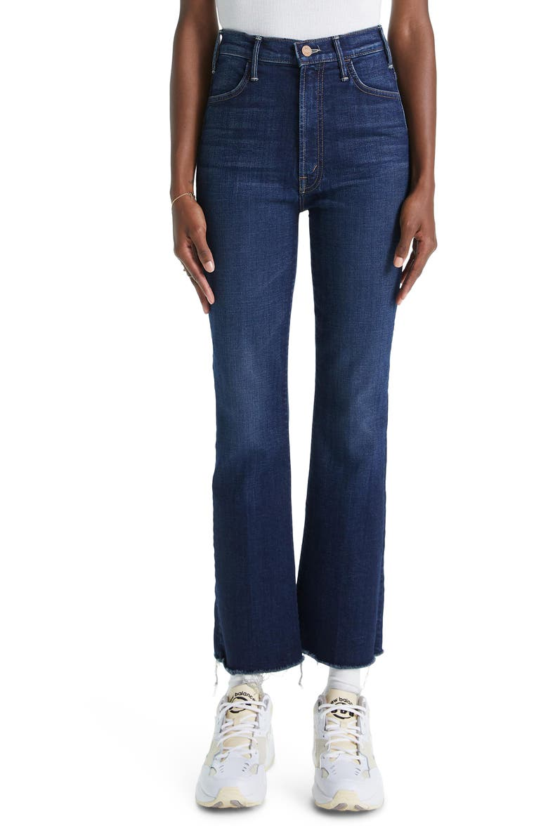 MOTHER The Hustler Frayed Ankle Jeans, Main, color, 401