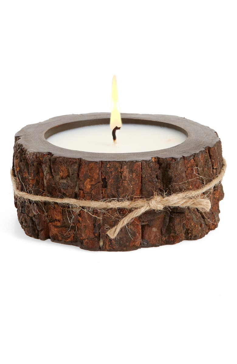 HIMALAYAN TRADING POST Tree Bark Candle, Main, color, MOUNTAIN FOREST