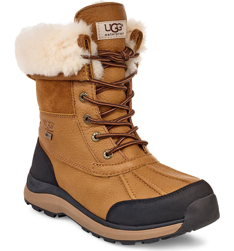 UGG<SUP>®</SUP> Adirondack III Waterproof Boot, Main, color, CHESTNUT