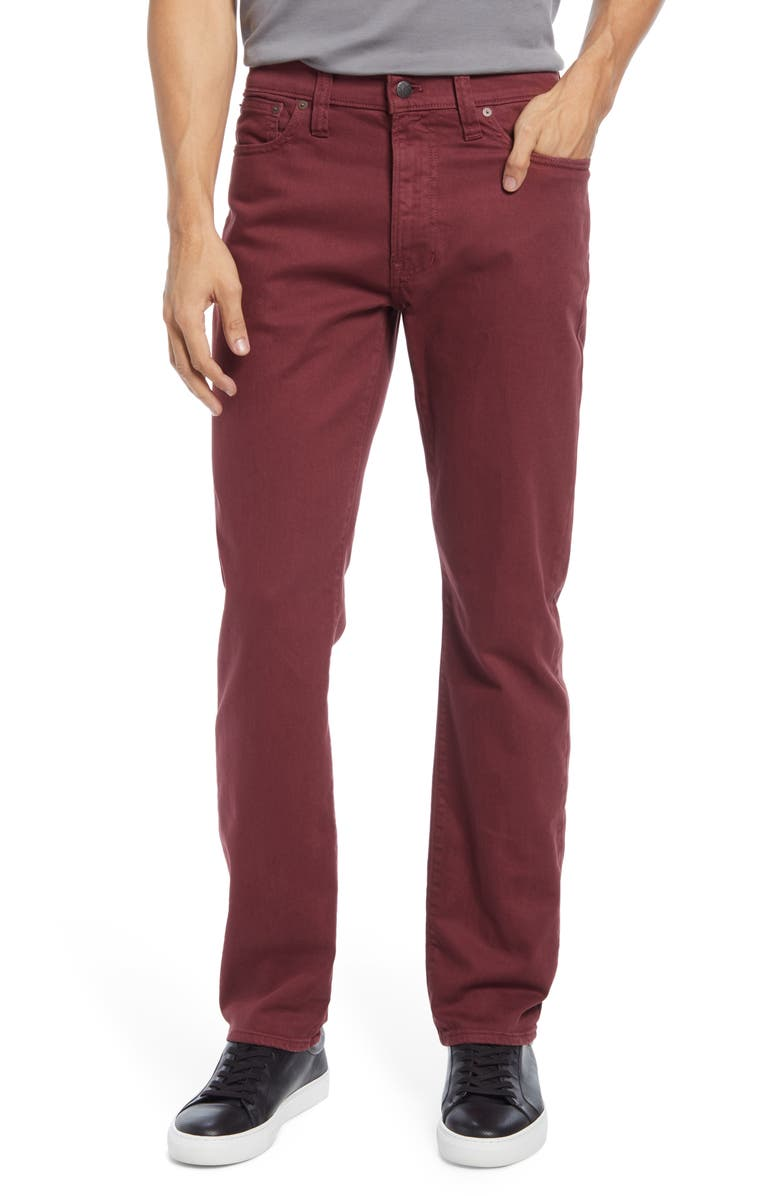 MADEWELL Garment Dyed Slim Fit Jeans, Main, color, DARK CABERNET