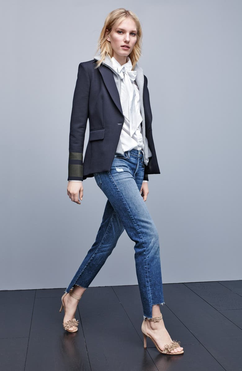 VERONICA BEARD Cutaway Jacket with Removable Knit Dickey, Main, color, 965