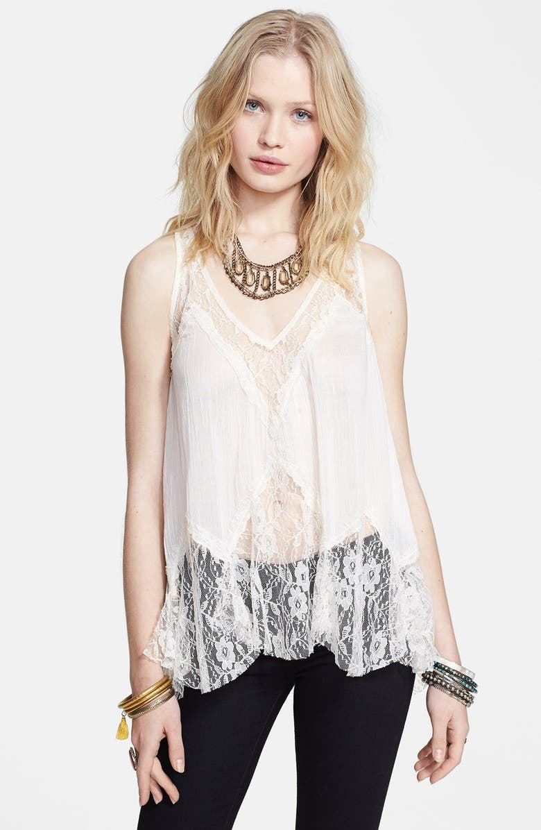 FREE PEOPLE 'Bell' Lace Trapeze Camisole, Main, color, 120