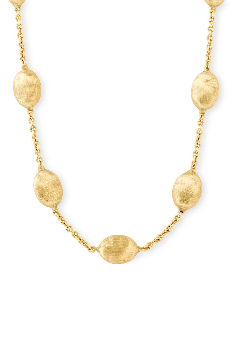 MARCO BICEGO 'Siviglia' Station Necklace, Main, color, YELLOW GOLD