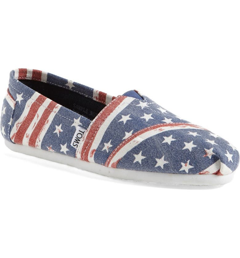 TOMS 'Classic - American' Slip-On, Main, color, 400