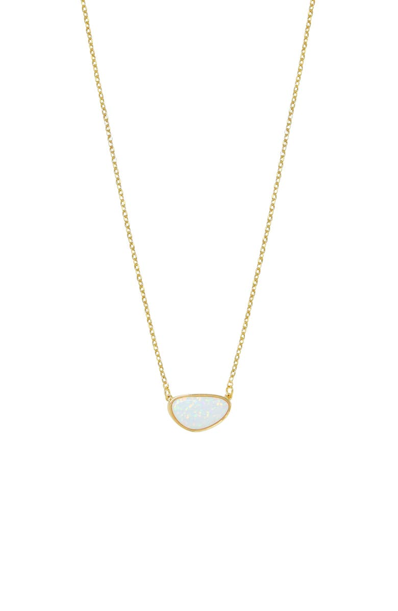 ETTIKA Opal Pendant Necklace, Main, color, GOLD