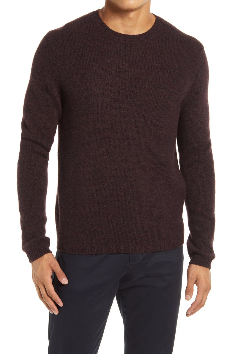 VINCE Cashmere Crew Sweater, Main, color, SONOMA RED/ BLACK