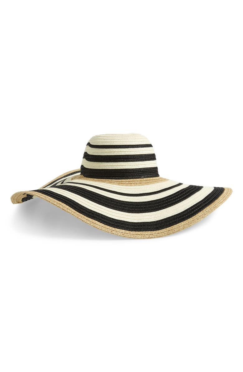 NORDSTROM Modern Stripe Floppy Hat, Main, color, 001