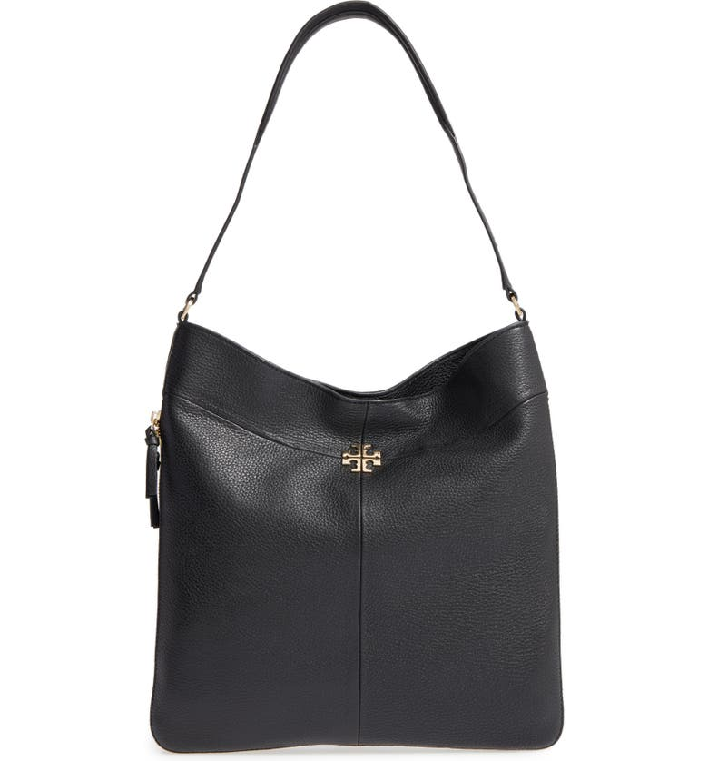 TORY BURCH Ivy Leather Hobo, Main, color, 001