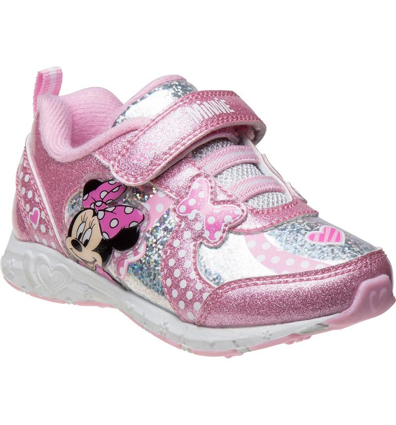 JOSMO Disney Minnie Mouse Sneaker, Main, color, PINK SILVER